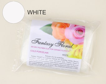 Fantasy Floral white cold porcelain White polymer clay White air dry clay Polymer Clay for sculpting flowers Clay flower modeling jewelry