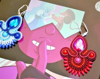 "Handmade Soutache ""Steven Univers"" earrings"