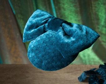 Fascinator Turquoise Velvet