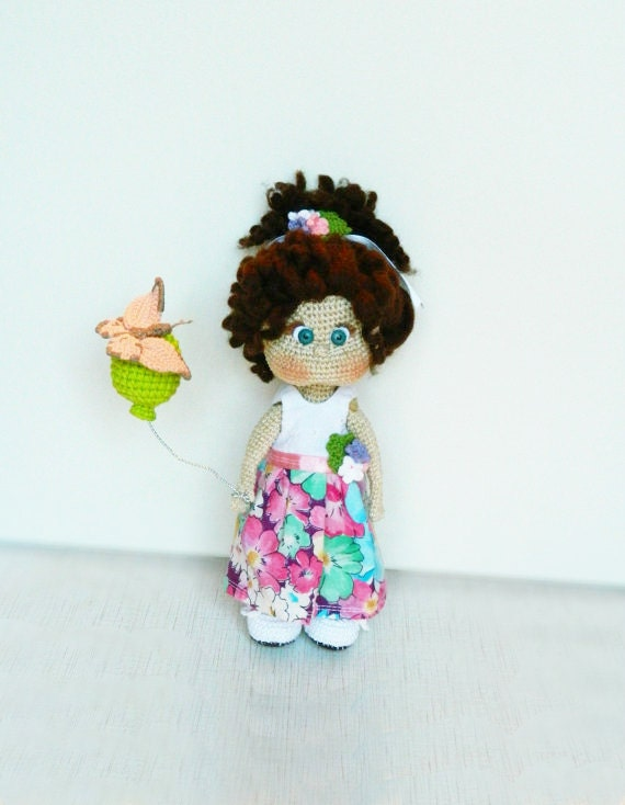 Amigurumi Doll House : Crochet Doll Amigurumi doll Plush doll Handmade by ...