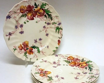 Vintage Set of Four Royal Doulton Sherborne Plates