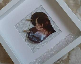 Personalised glitter crystal 3D box frame