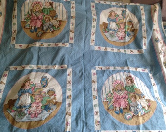 VICTORIAN DOLL Pillow Panels (4) 1 yard Cotton Vintage NOS