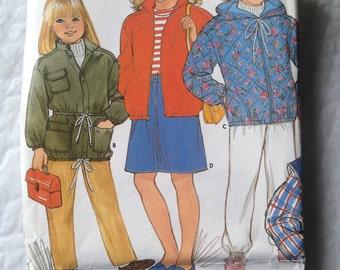 BUTTERICK #6804 Jacket, Vest.  uncut.  Girls 12-14