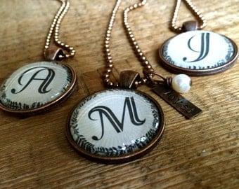 Monogram {loved} necklace