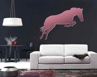 Horse Jumping Elegant Design Wall Decal