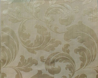 Large Floral Pattern Fabric in Gold