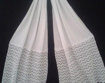 scarf, scarf, shawl, lace, cotton, white, women