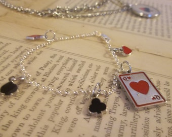 Playing Cards Charm Bracelet