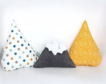 """Trio of cushion """"Annecy"""" deco between mountain and Lake / Mountain pillow / cushion drop"""