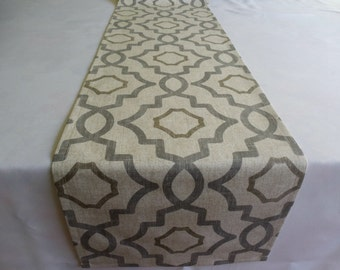 Table runner wedding, event, hollidays, home decor dining room table runner table topper table overlay geometric runner modern home decor