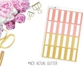 SBC August Faux Glitter Mini Marquee-- Matte Planner Stickers