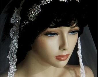 wedding headband, swarovski crystal wedding headband, bridal halo headband, crystal wedding halo headpiece, wedding headband