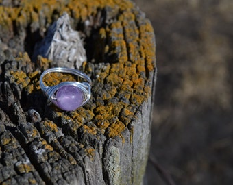Handmade Ring, Wire Wrapped Ring, Amethyst Ring, Wire Ring, Purple Ring