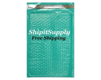 1-500 4x8 Teal Color Poly Bubble Mailers Free Same Day Shipping