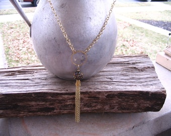Y Necklace with Tassel
