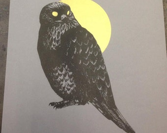 Buzzard Screenprint