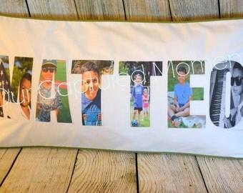Photo Name Pillow - Keepsake Pillow