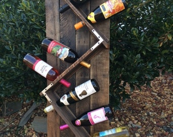 Rustic Wine Rack,Personalized wine rack,housewarming gift,Wedding Gift,mothers day gift,birthday gift,fathers day gift(Free Shipping