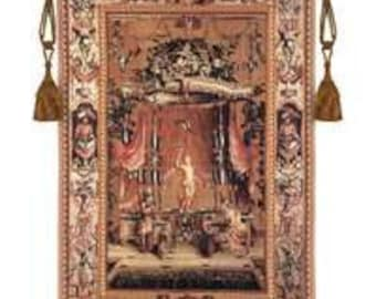 "L'OFFRANCE A BACCHUS - 37""x53"" Tapestry Wall Hanging"