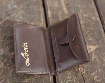 Vintage  Leather Brown Wallet 80's years