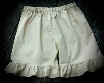 School uniform, khaki shorts, Ruffle shorts, girls clothing, boutique shorts, school uniform shorts
