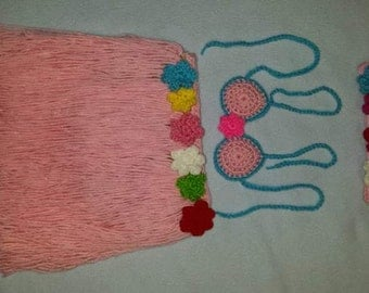 Set of knitted hula outfit free shipping within us