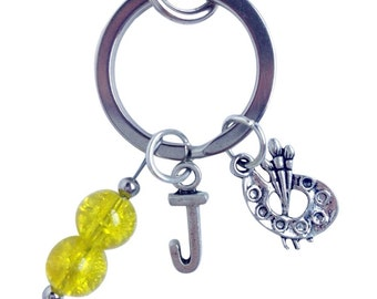 Personalized Artist Keychain with Initial