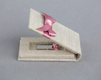 USB folio case - Flash Drive Packaging - USB Box - Wedding Photography Packaging - Custom Colors - Satin Ribbon - Cloth Coated - Handmade