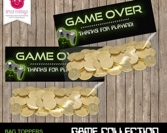Video Game Party Favor Bag Toppers - DIY Printable