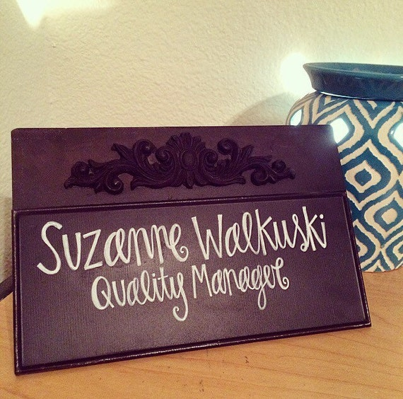 Personalized Desk Name Plate Metal Name Plate by