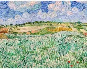 Van Gogh Print Print Vintage Art Prints Art Plain near Auvers-Vincent van Gogh 1890 Prints Vintage Prints Reproduction Prints Reproduction