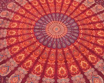 Mandala Bedspread, mandala table cloth, mandala wall hanging, mandala tapestry, size queen, King Size, Mandala Throw, Mandala Beach Blanket