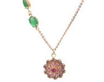 Romantic Necklace with Vintage Swarovski Crystal