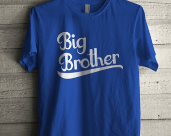 Men's Big Brother Shirt Printed Unisex Adult Family Graphic T-Shirt #1002 by Expression Tees Trending Clothing / Apparel USA Seller