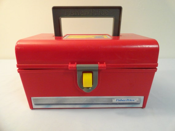 1991 fisher price action tool set red toolbox with by fritzthedog Fisher price tool bench