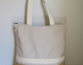 Bag tote style ethnic cotton and sackcloth. Tote bag.