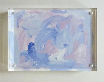"""5""""x 7"""" lucite framed acrylic"""