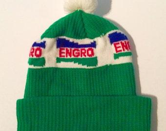 Retro Engro Toque with Pom Pom - Beanie - Winter Hat
