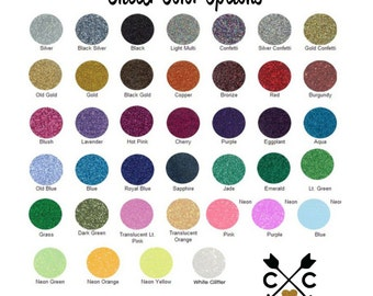 Glitter Color Options