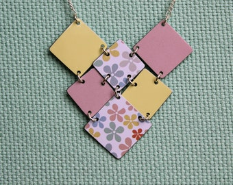 Candy Floral Square Cluster Necklace