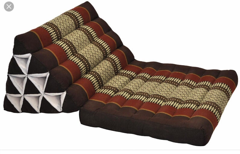 Traditional Thai Triangle Pillows : Triangle Thai Cushion Pillow Thai Traditional One Fold Cushion
