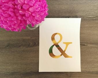 Gold ampersand etsy for Ampersand decoration etsy