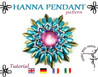 HANNA pendant pattern with Chilli beads and daggers DIY tutorial