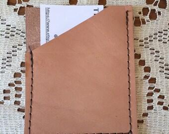 Minimalist leather wallet