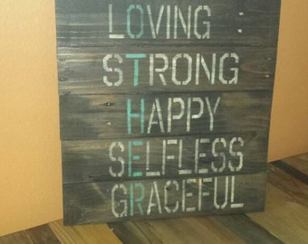 Mother. Pallet sign. Mother's Day, gray wash