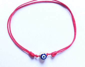 Evil eye bracelet - red string bracelet - lucky eye - hamsa eye - friendship bracelet - protection bracelet - evil eye charm bracelet