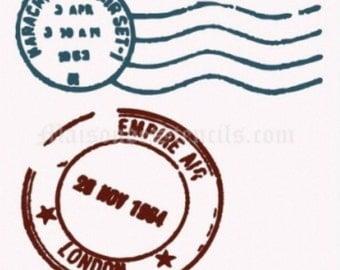 Postmark Stencil (12x12)