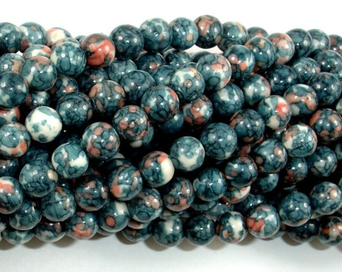 Rain Flower Stone Beads, Gray, 6mm (6.7 mm) Round Beads, 15.5 Inch, Full strand, Approx 62 beads, Hole 1 mm, A quality (377054019)