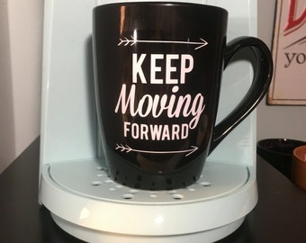 Small Keep Moving Forward Vinyl Decal